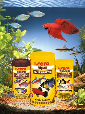 Bob's Tropical Fish carries complete line of Sera Fish Foods