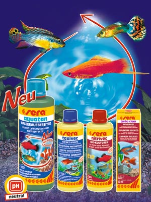 Bob's Tropical Fish offers full line of Sera Water Conditioners